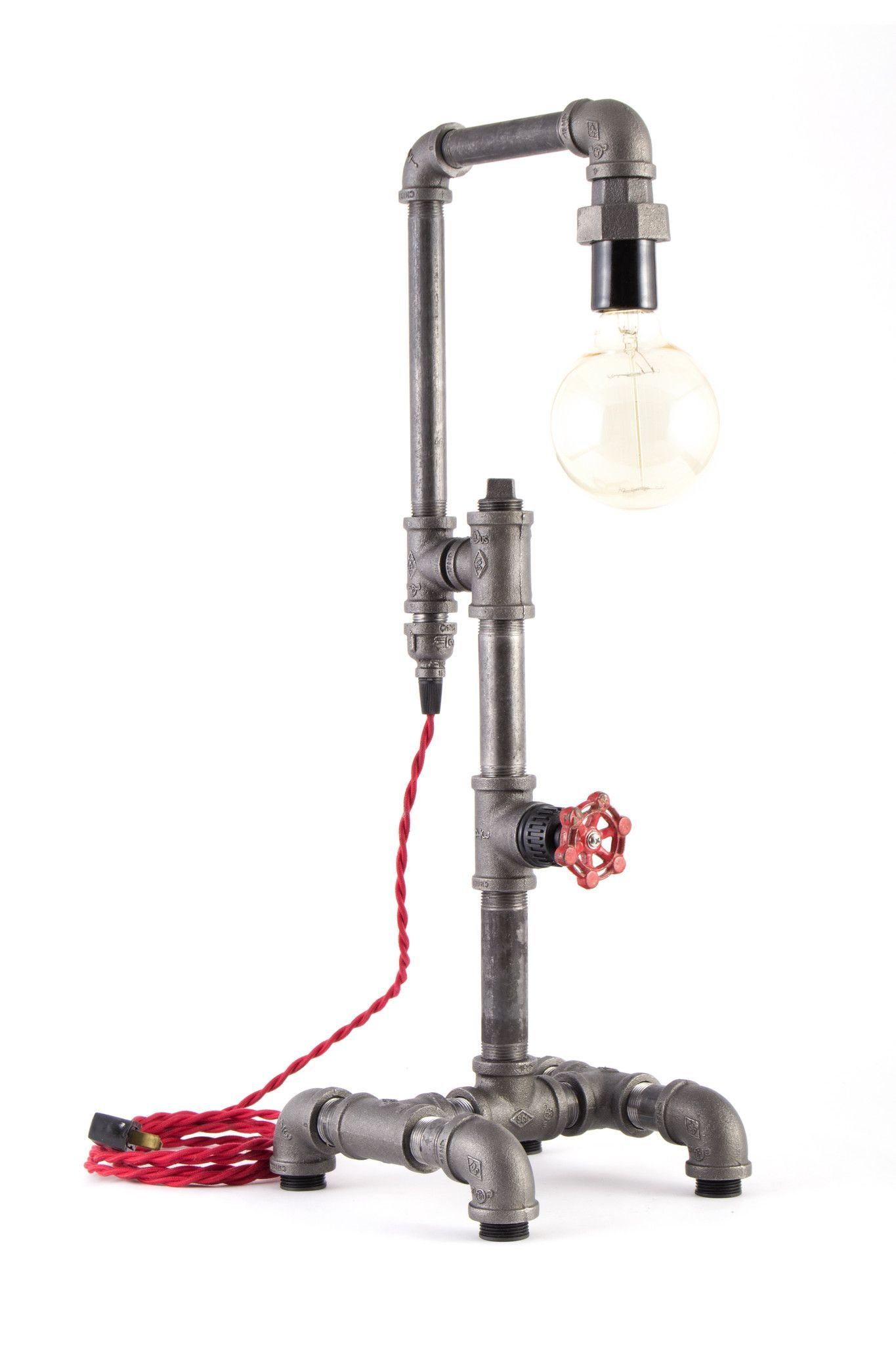 The Michigan Lamps Can Be Turned On And Off By Rotating A Vintage Faucet Handle And Our Cloth