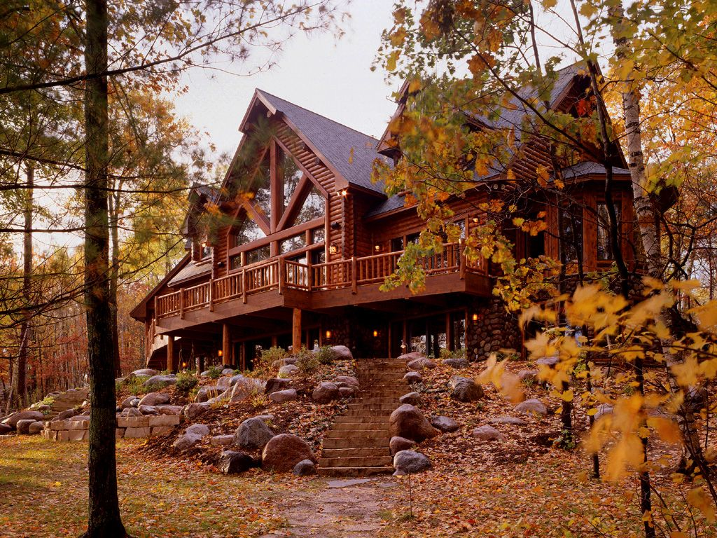 Exterior: Logs, White Cedar And Cabin