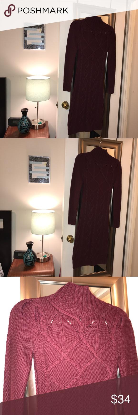 Victoria S Secret Bodycon Wine Sweater Dress Xs Wine Sweater Dress Dresses Xs Sweater Dress