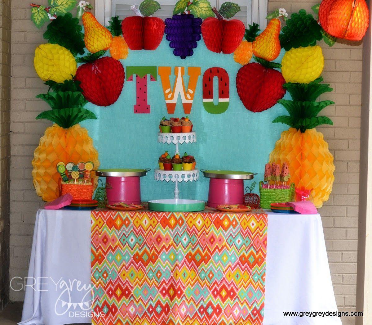 GreyGrey Designs: {My Parties} Avery's Two-tti Fruitti