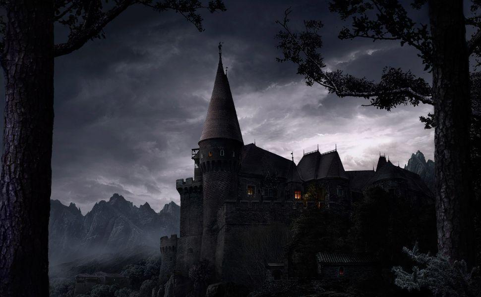 Dark Castle Hd Wallpaper
