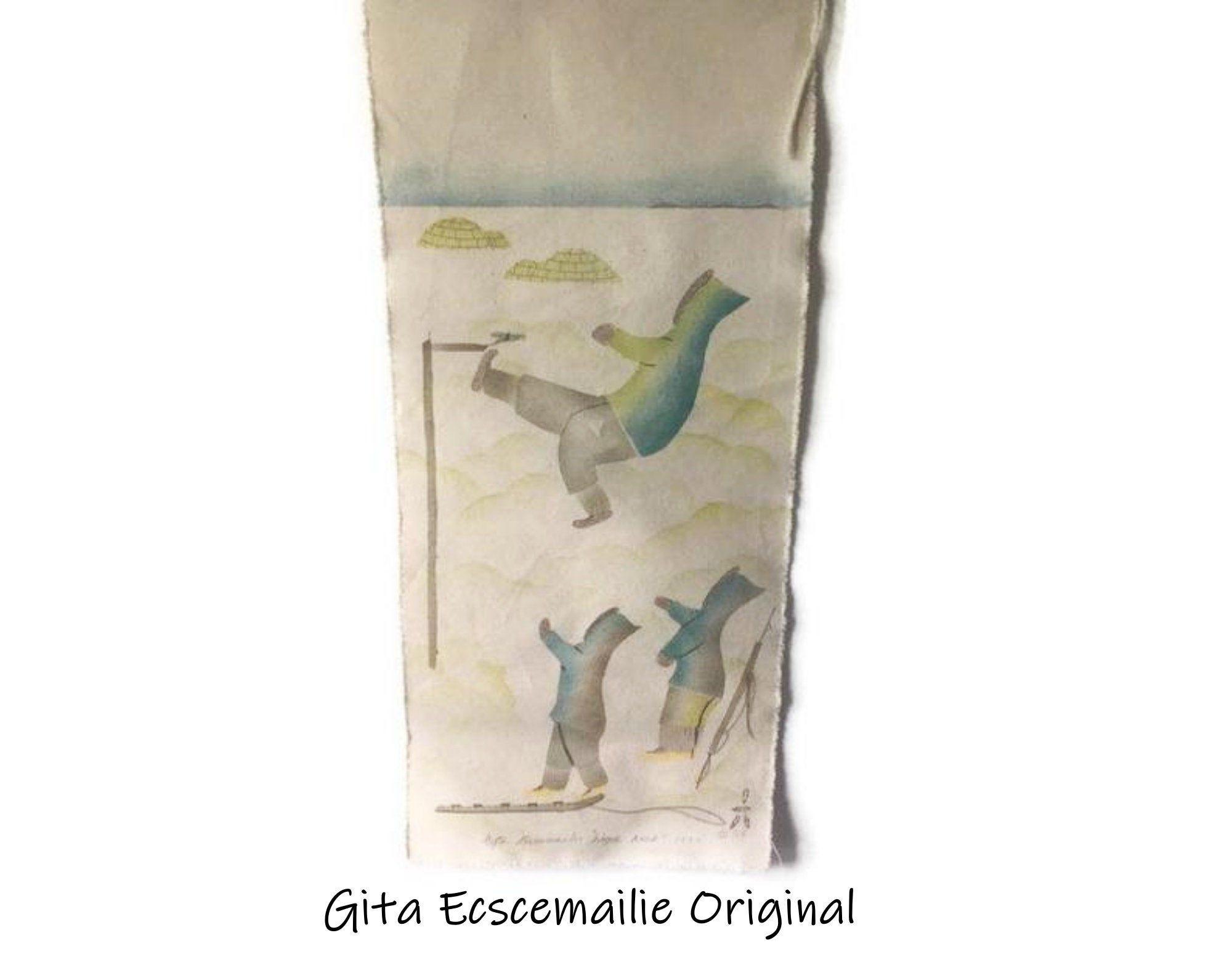 Original Inuit Gita Ecscemailie Wall Hanging/ Canadian