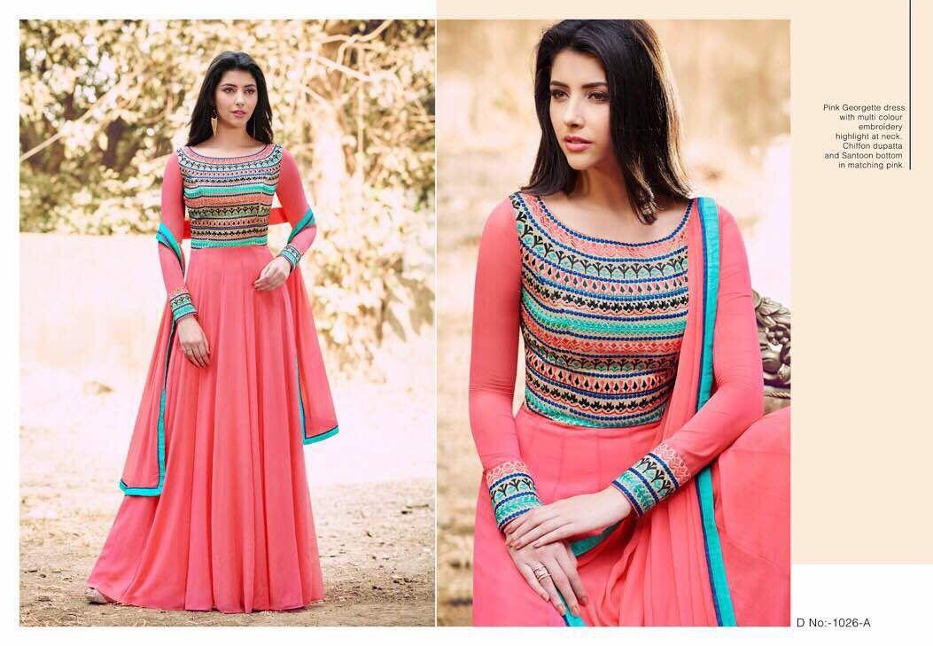 c4336037ed Designer suit world present new naira hit design Price - ₹1750/- (INR)  Fabric Details :- Top :- Georgette Bottom:- Santoon Inner:- Santoon  Dupatta:- Nazmin ...
