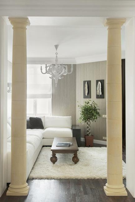 35 Modern Interior Design Ideas Incorporating Columns Into Spacious Room Design Interior Columns Interior Design Modern Houses Interior