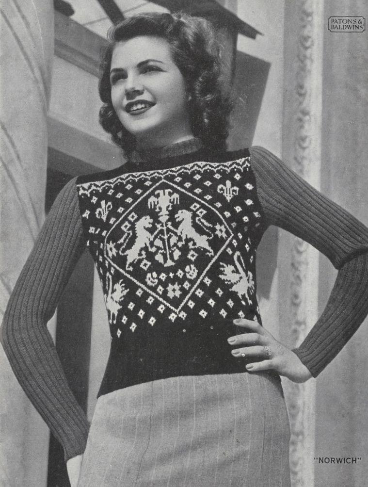 The Vintage Pattern Files Free 1940s Knitting Pattern Womens