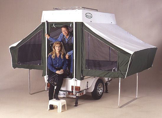 Telescoping lid-roof with fold-out beds. & Telescoping lid-roof with fold-out beds. | Tent Trialer | Pinterest