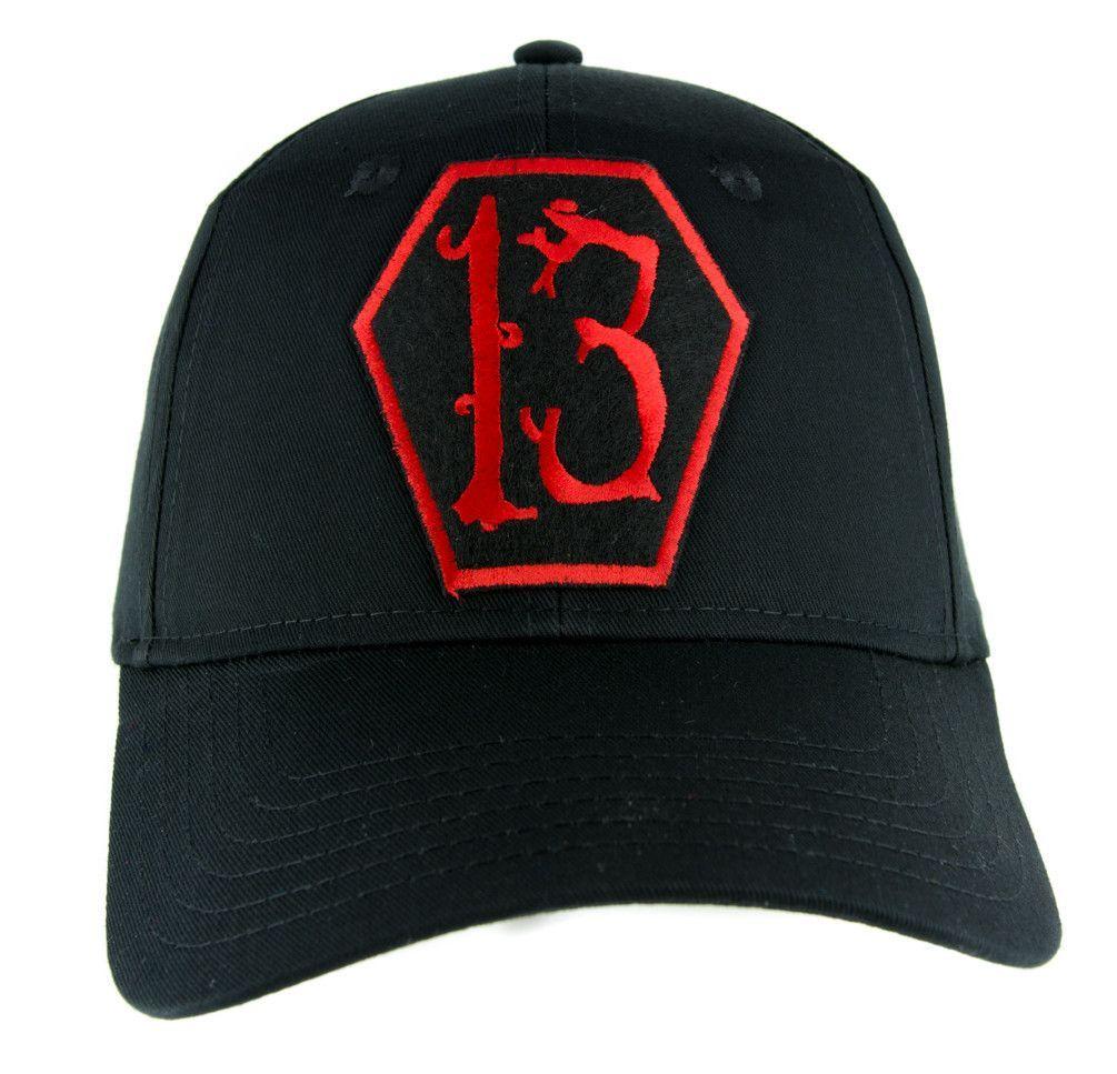 e3f996299f7 Red Coffin Number Thirteen 13 Hat Baseball Cap Alternative Rockabilly  Clothing
