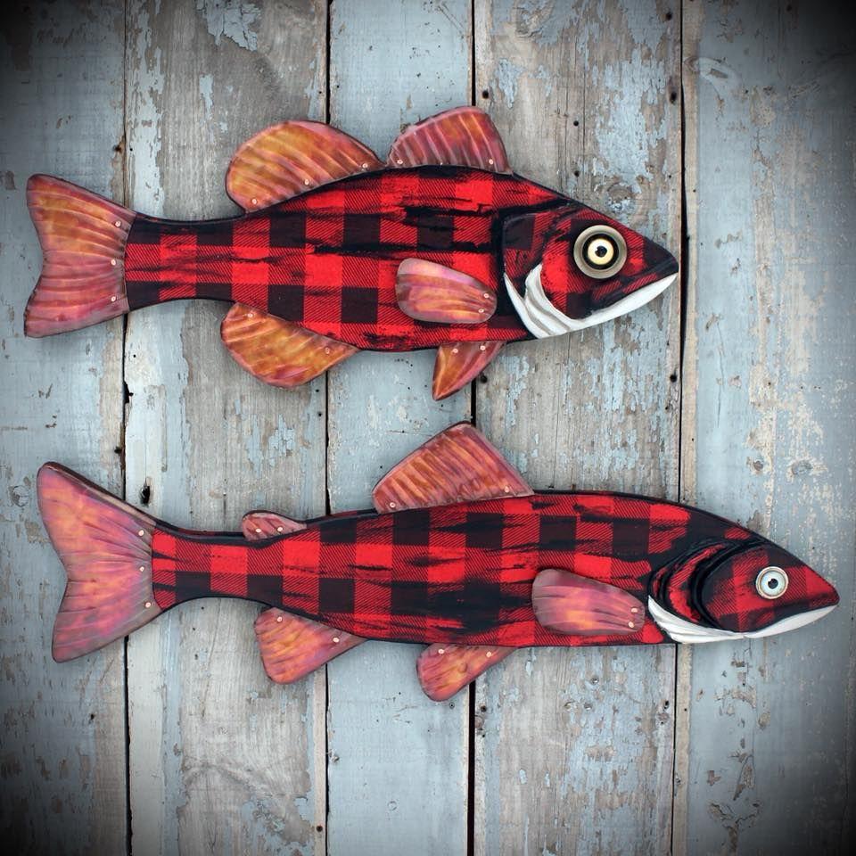 Lumberjack Fish Art by Vermont Artist Rachel Laundon. Available for ...
