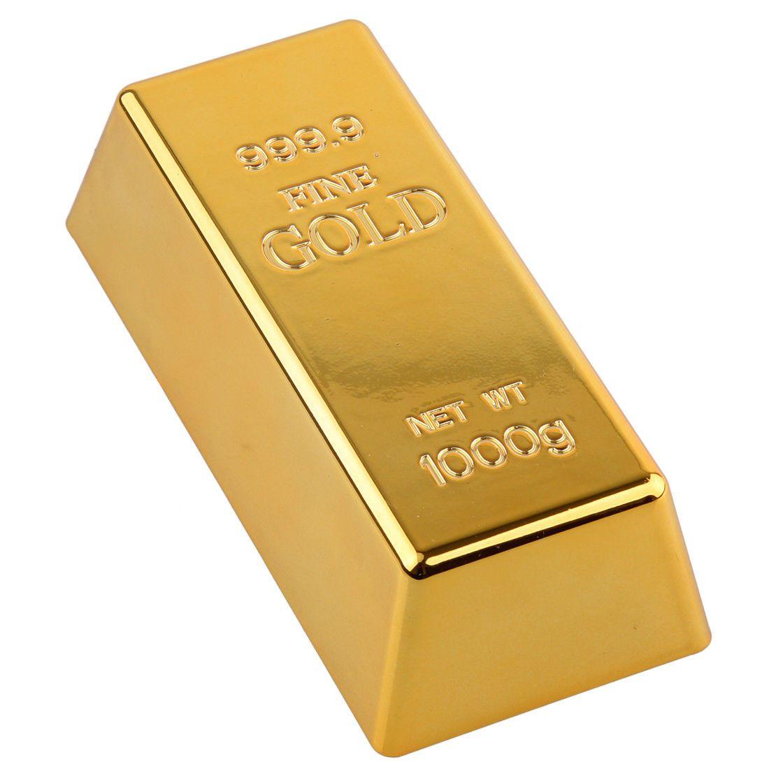 6 5 Fake Gold Bar Brick Bullion Door Stop Paperweight Desk Office Home Decor