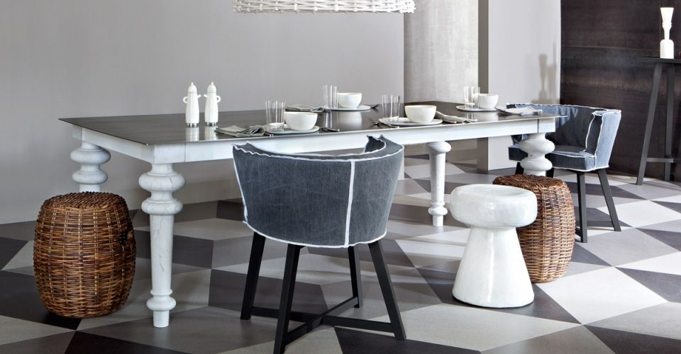 Tavolo Gervasoni ~ Gray gervasoni by paola navone square table fixed top in walnut