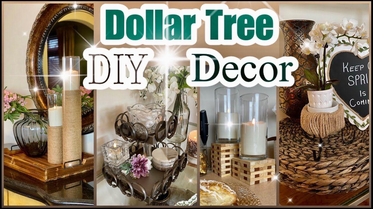Dollar Tree DIY Decor Ideas - YouTube in 2020 | Dollar ...