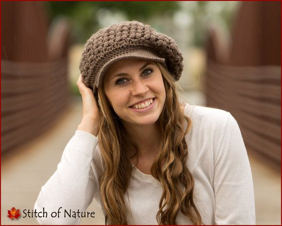 Crochet PATTERN - The Madison Scally Cap, Newsboy Hat, Slouchy Hat ...