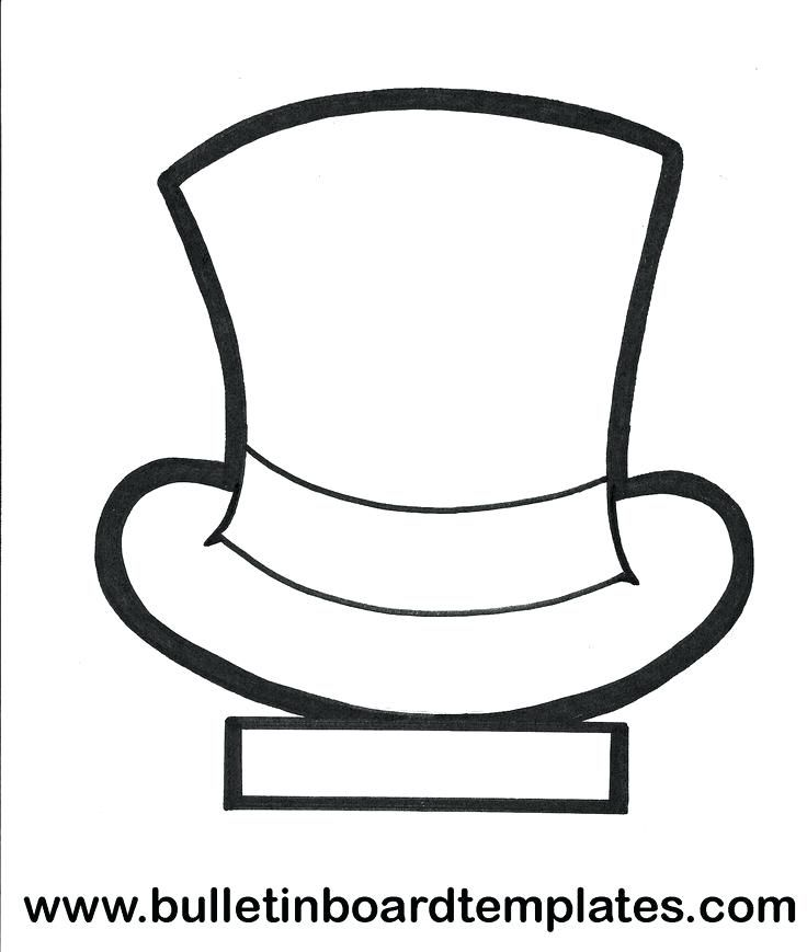 Top Hat Template For Kids Coloring Pages Printable