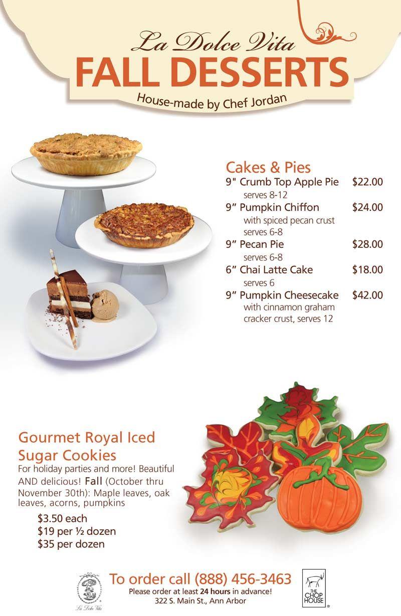 4387c82e54b Fall Desserts La Dolce