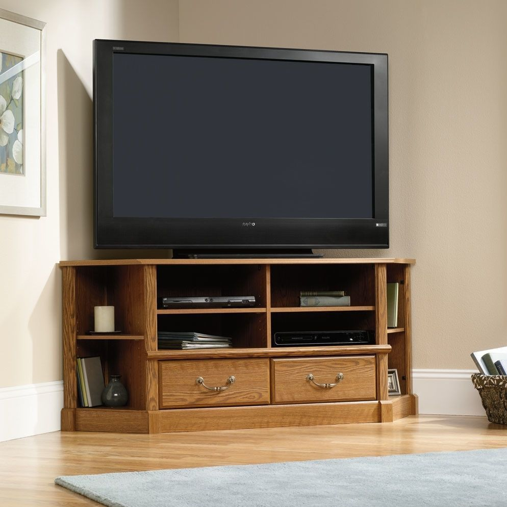 Corner tv stand flat screen home entertainment center media corner tv stand flat screen home entertainment center media console cabinet wood sciox Image collections