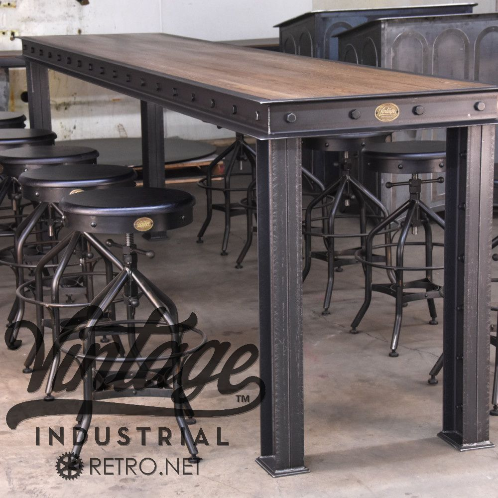 Hure conference table with faux crank vintage industrial furniture - Hure Conference Table With Faux Crank Vintage Industrial Furniture