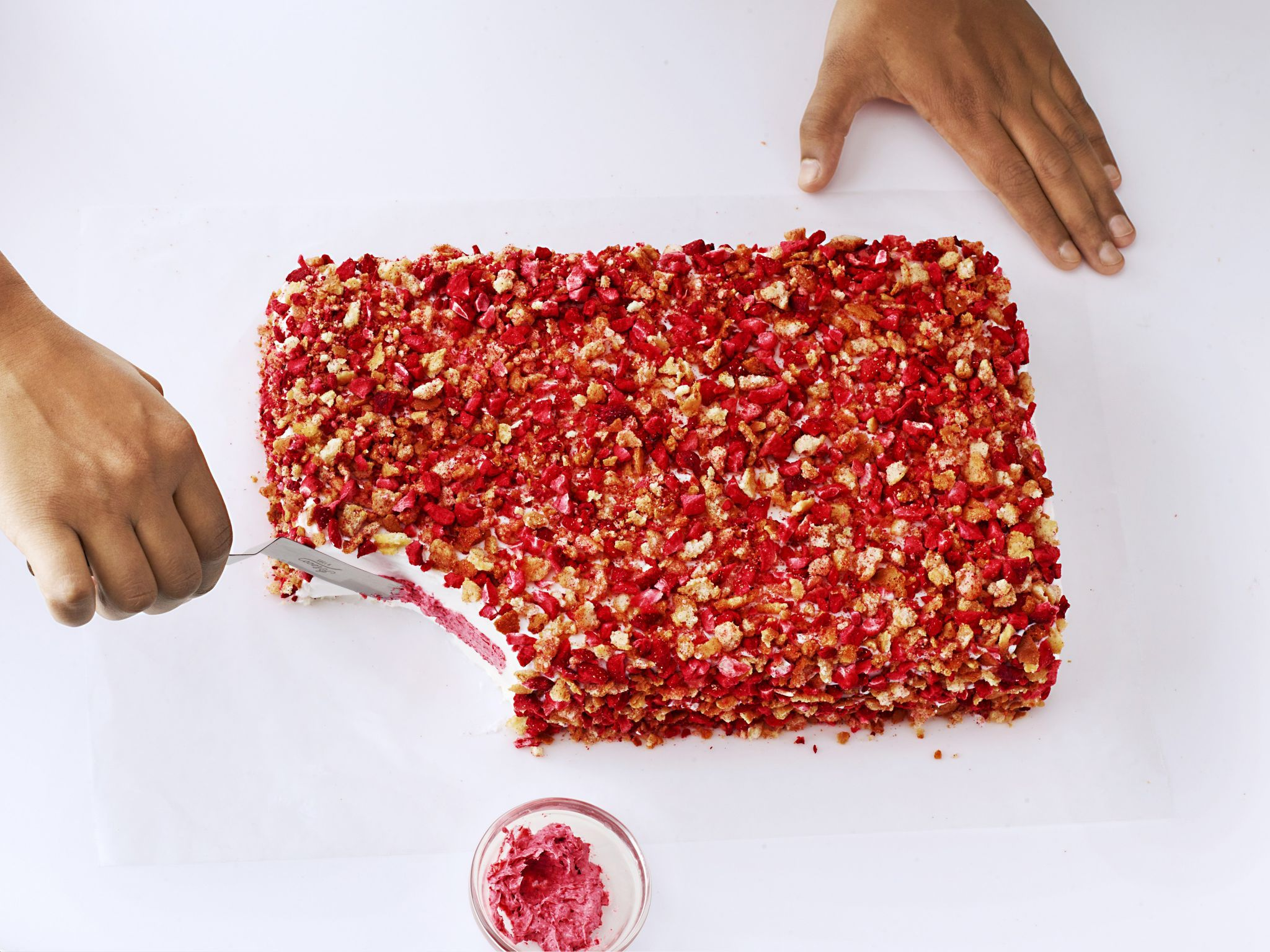 How To Make A Strawberry Crunch Ice Cream Cake Just
