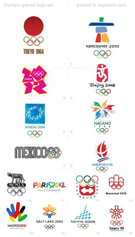 Olympic Games Logo Set Logoblink Com Olympic Games Olympic Logo Olympics