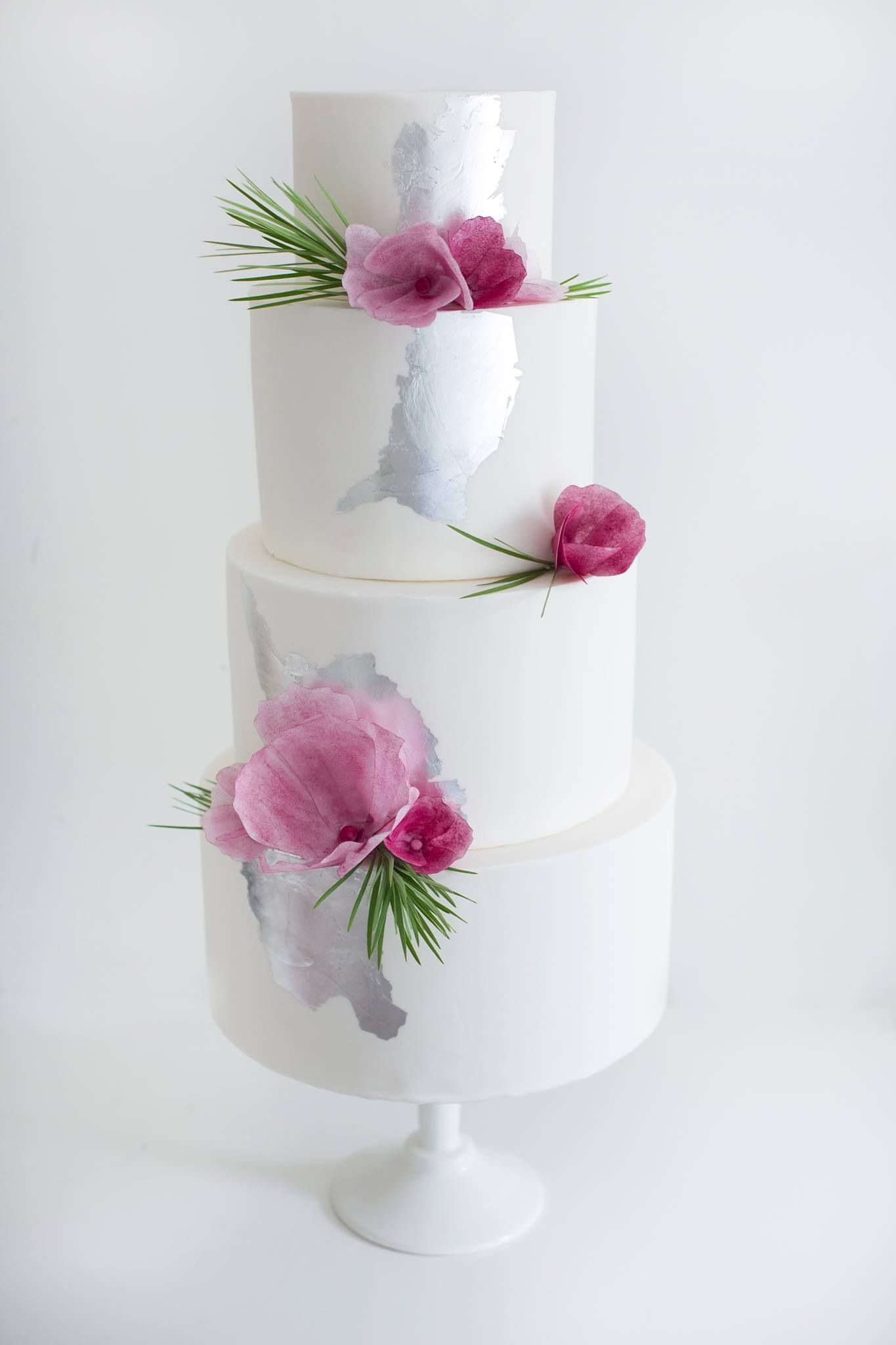 Plums and Silver Wedding Cake by Sweet Bakes | Cakes | Pinterest ...