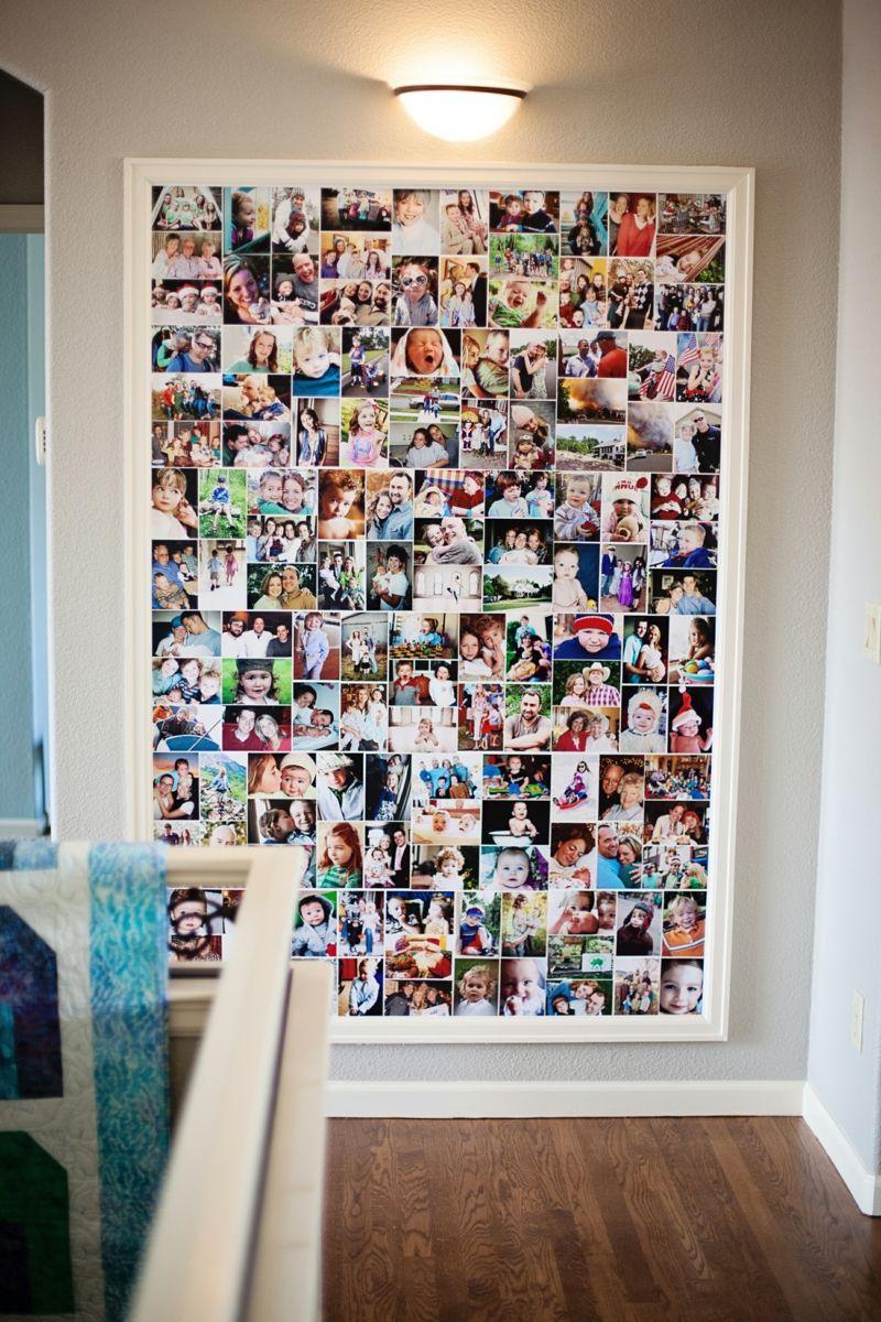 fotowand zu hause gestalten tipps und 25 kreative ideen diy ideen pinterest haus w nde. Black Bedroom Furniture Sets. Home Design Ideas