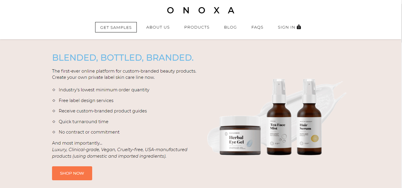Private Label Skin Care Products From Onoxa Create Your Brand Today In 2020 Private Label Skin Care Skin Care Face Hydration