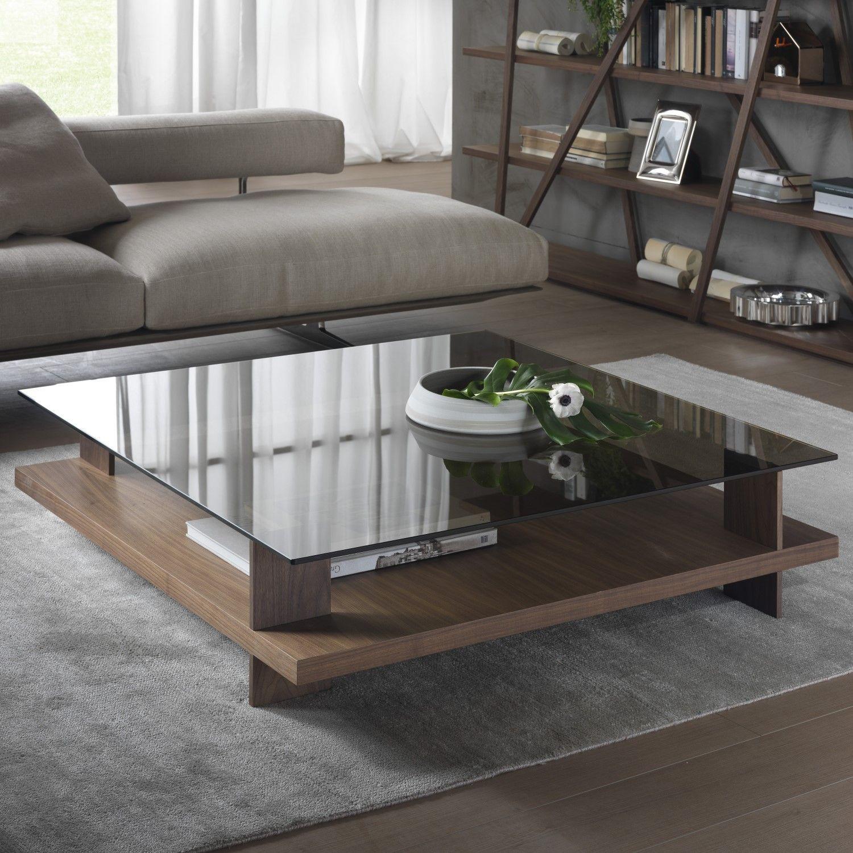 Cerian Glass Walnut Coffee Table Diotti Com Centre Table Living Room Center Table Living Room Living Table [ 1500 x 1500 Pixel ]