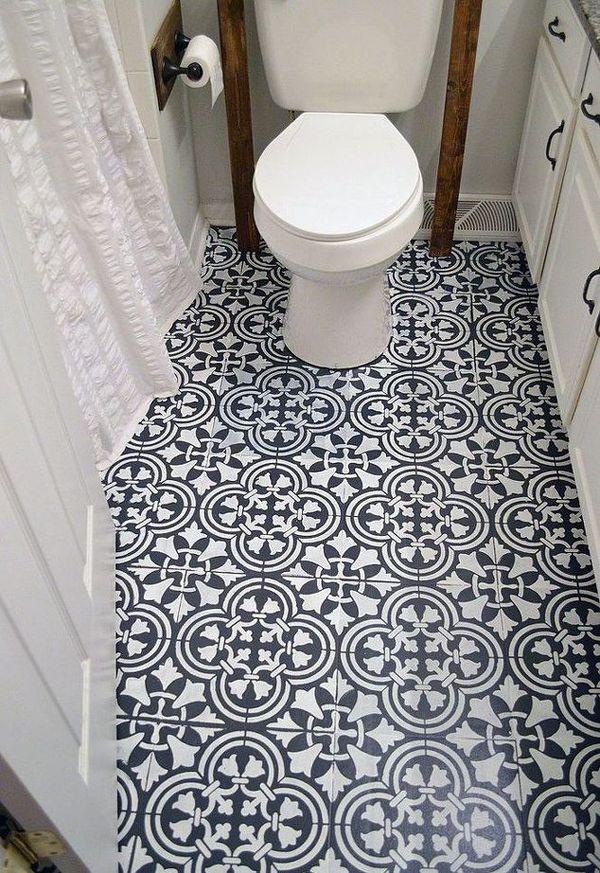 Hometalk Flooring Ideas That Will Floor You Grandmas House Diy Painted Bathroom Floors Diy Flooring Linoleum Flooring