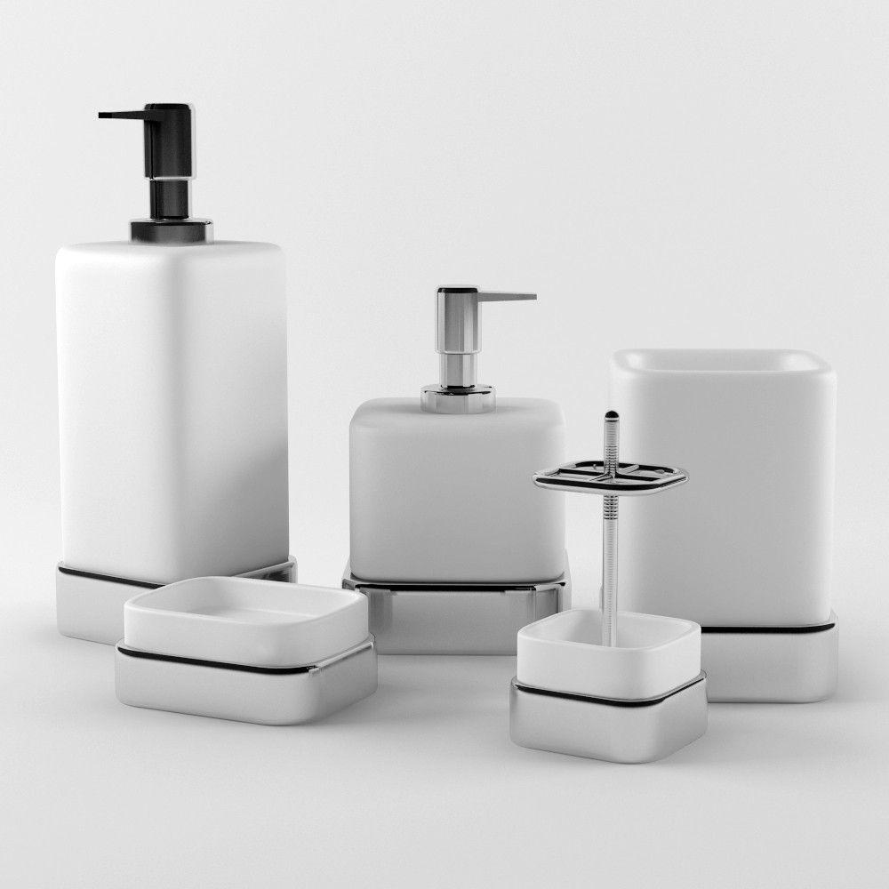 3D Model Bathroom Accessories Set 03 - 3D Model | 3D-Modeling ...