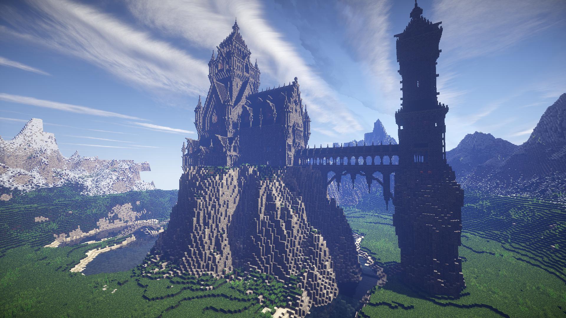 Epic Mountain Castle Minecraft