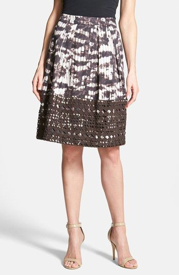 Weekend Max Mara 'Fresco' Eyelet Trim Print Skirt available at #Nordstrom