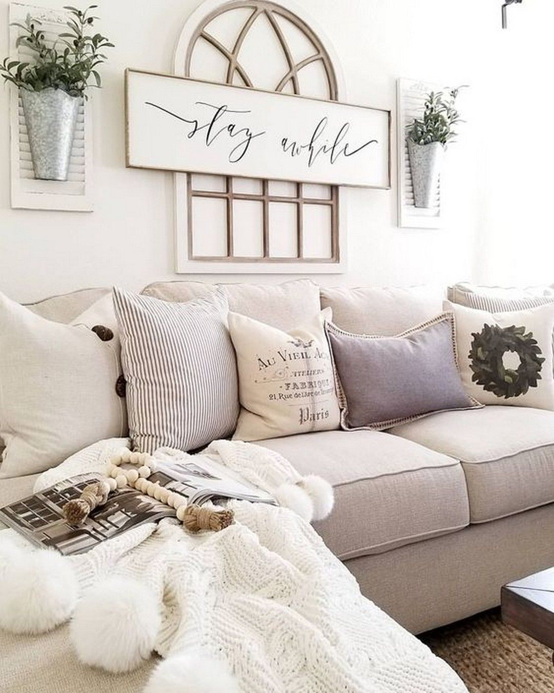 Minimalist interior living room furniture home tour sofas tips spring cleaning also rustic arch mirrors with hanging planters modern farm house rh pinterest