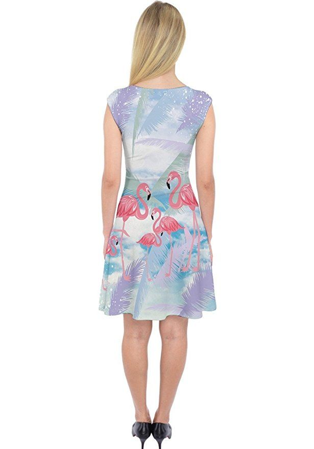 c6ac1b66e04ea5 PattyCandy Womens Flamingo Capsleeve Midi Dress - Many sizes   patterns  available.