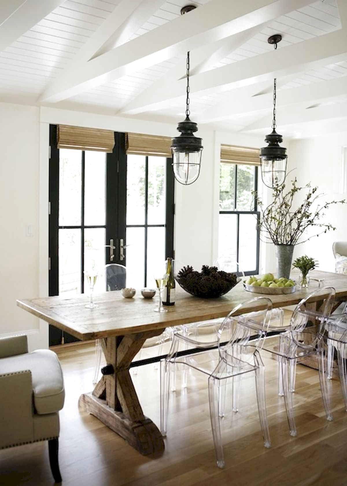 Modern Farmhouse Dining Room Table Ideas Decor And Makeover ...