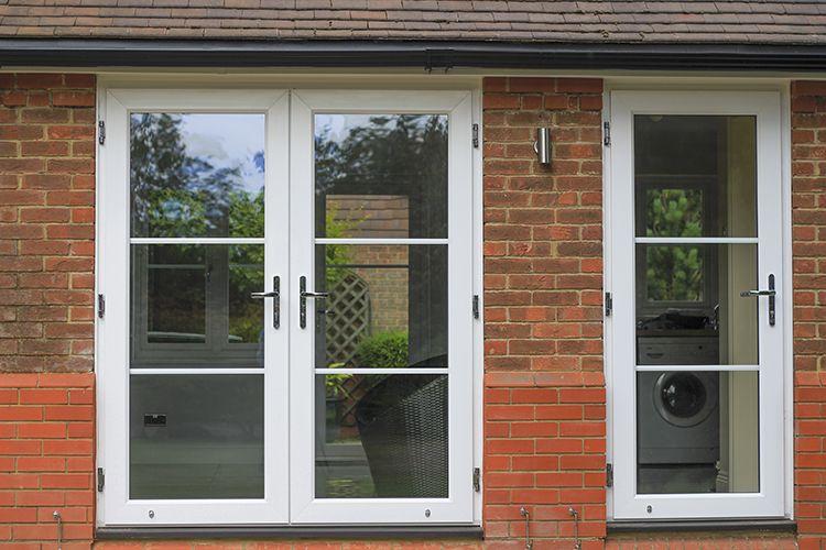 White Rustique UPVC Windows, Composite Front Door, French Doors And  Roofline, Finchampstead,