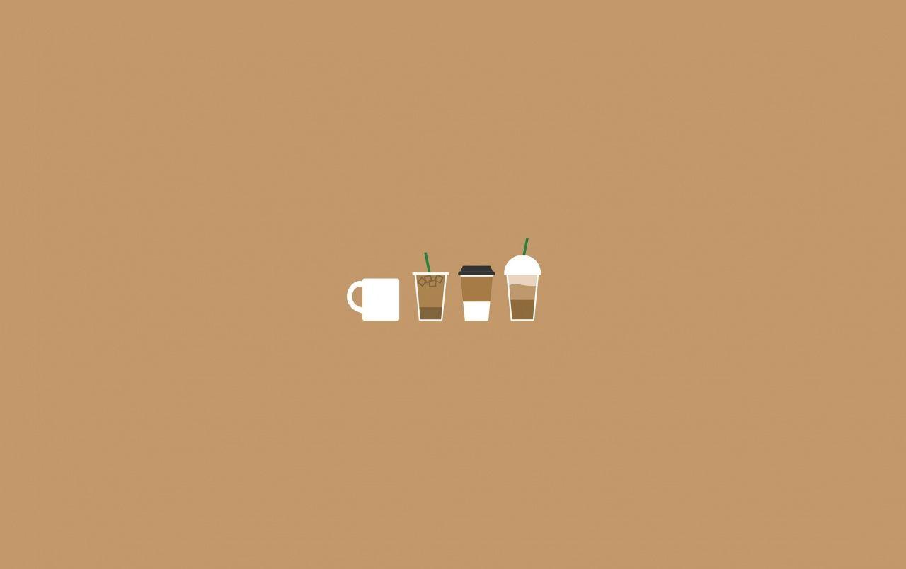 Coffee Illustration Wallpapers In 2020 Minimalist Desktop Wallpaper Aesthetic Desktop Wallpaper Cute Desktop Wallpaper