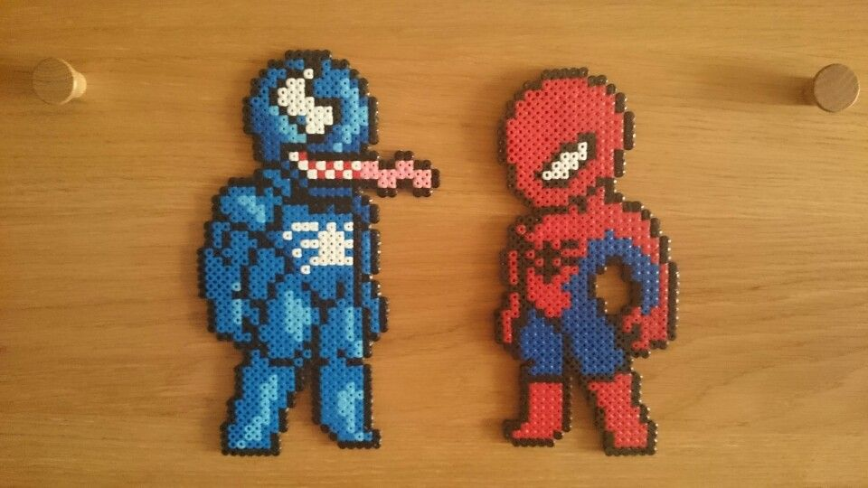Hama Beads Spiderman: Venom And Spiderman Hama Beads