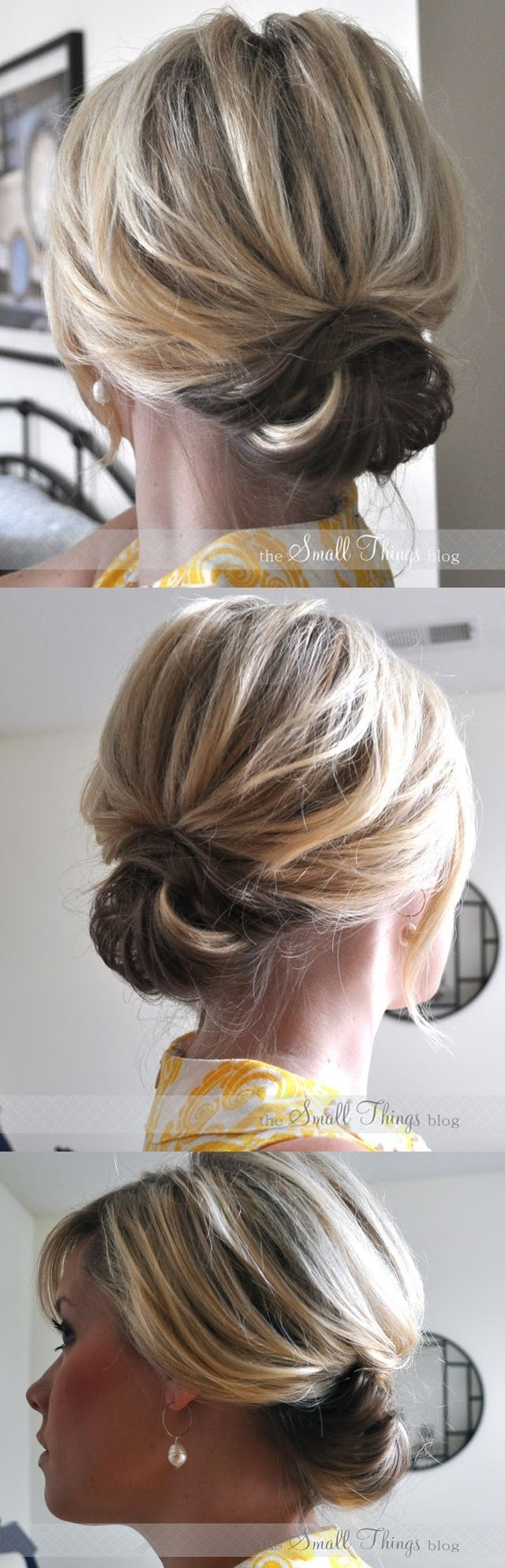 DIY Hairstyle   Chic Up do for Short Hair   Step By Step ...