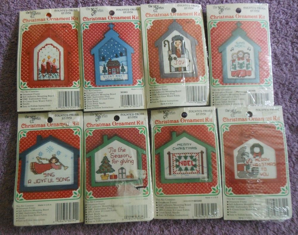CHOOSE ONE: NEW BERLIN CO.COUNTED CROSS STITCH KITS CHRISTMAS ...