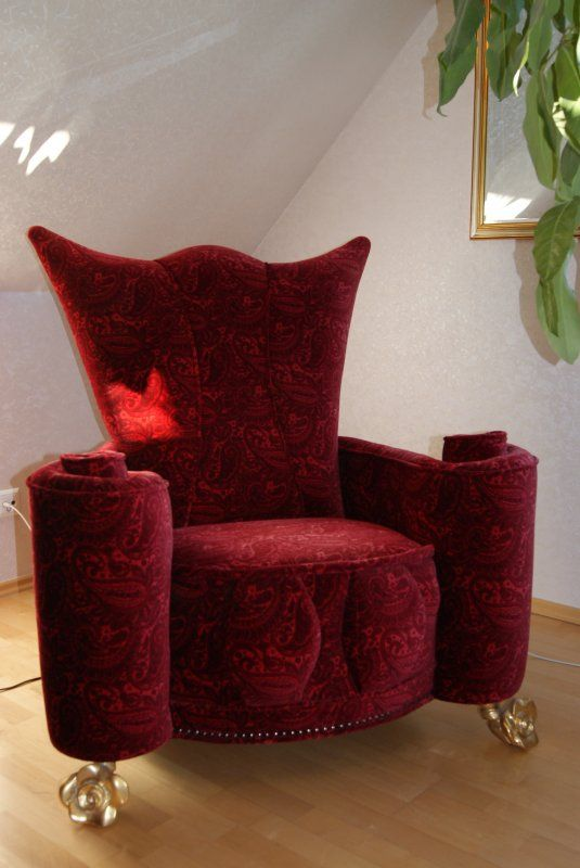 bretz sessel designerm bel gro beeren red bretz armchair. Black Bedroom Furniture Sets. Home Design Ideas
