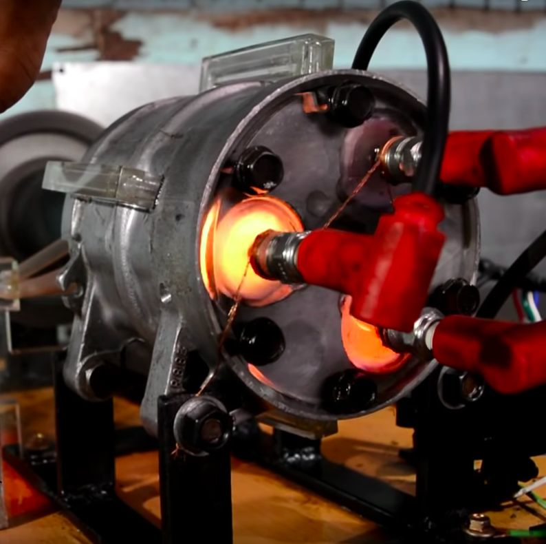 Turning an A/C Compressor Into a GasBurning Internal