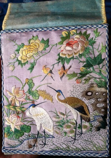 Rare Antique Chinese Silk Embroidered