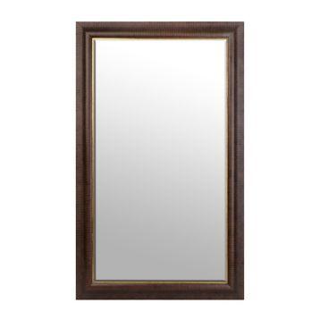 $129   Dark Bronze and Gold Framed Mirror, 45.5 x 75.5