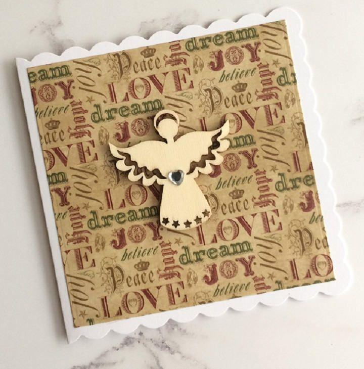 Handmade Christmas Angel Card, Christmas Card, Greeting Card by ...