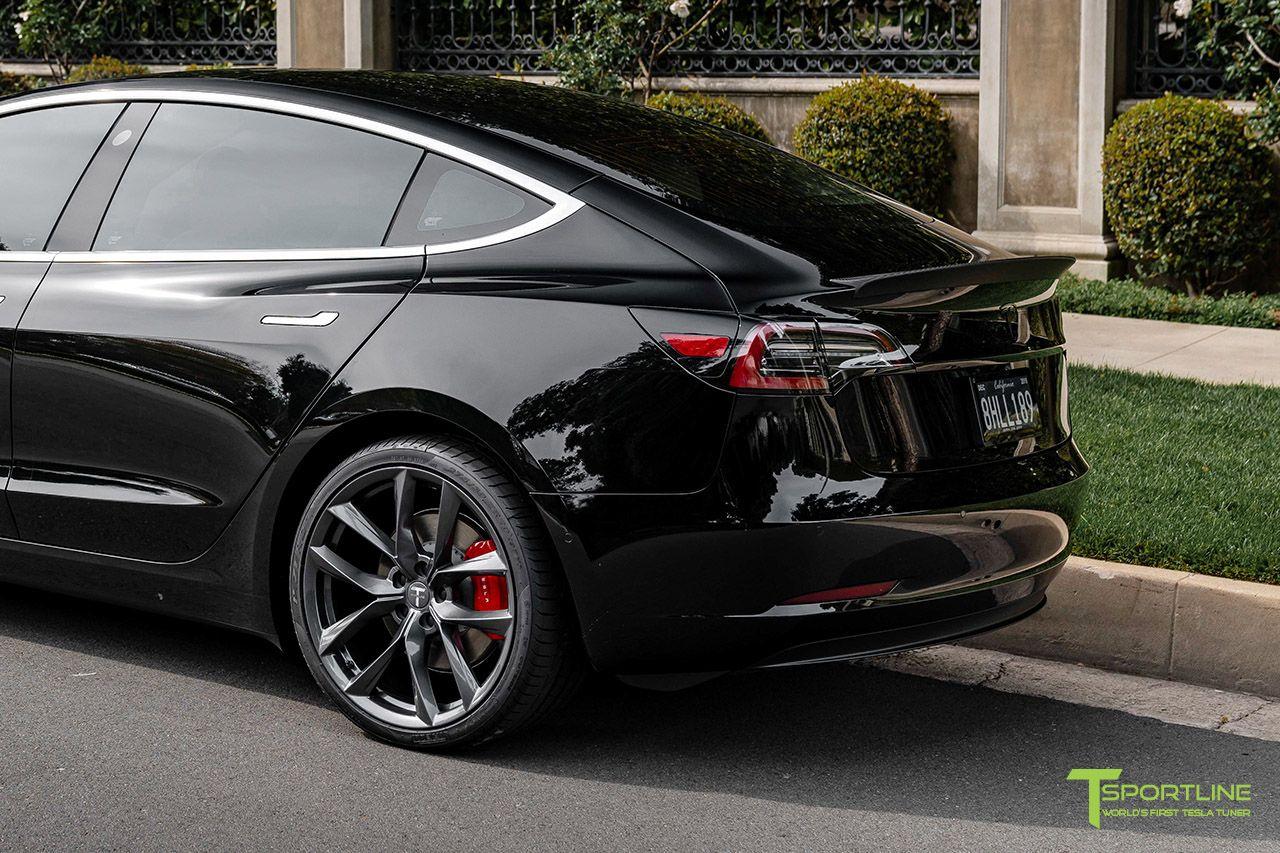 Tesla Model 3 Carbon Fiber Sport Trunk Wing Spoiler Carbon Fiber Tesla Model Tesla