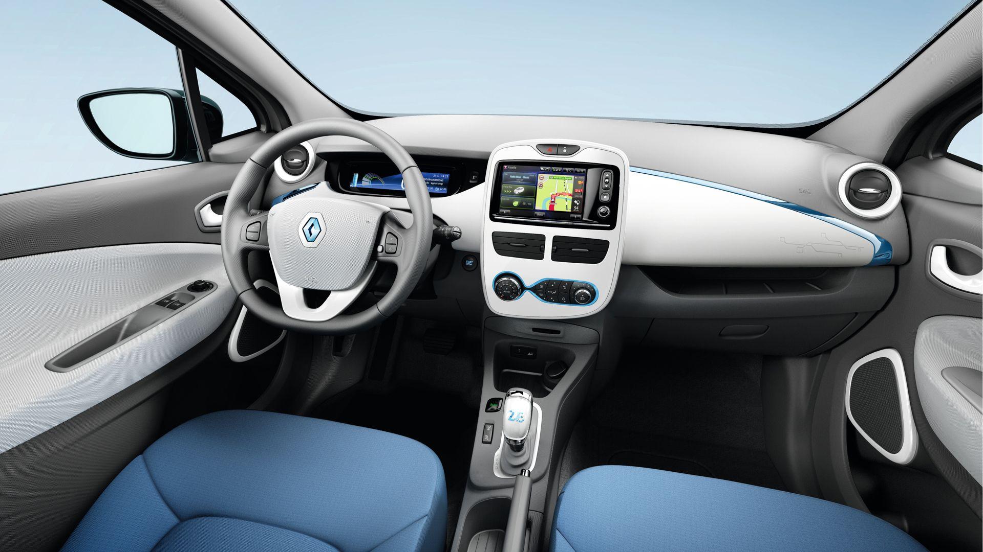 Renault Zoe Interior E Auto Elektrisches Auto Elektroauto