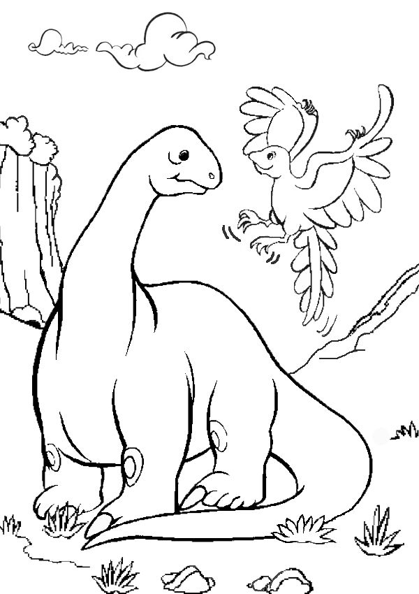Free Online Printable Kids Colouring Pages - Brontosaurus Colouring ...