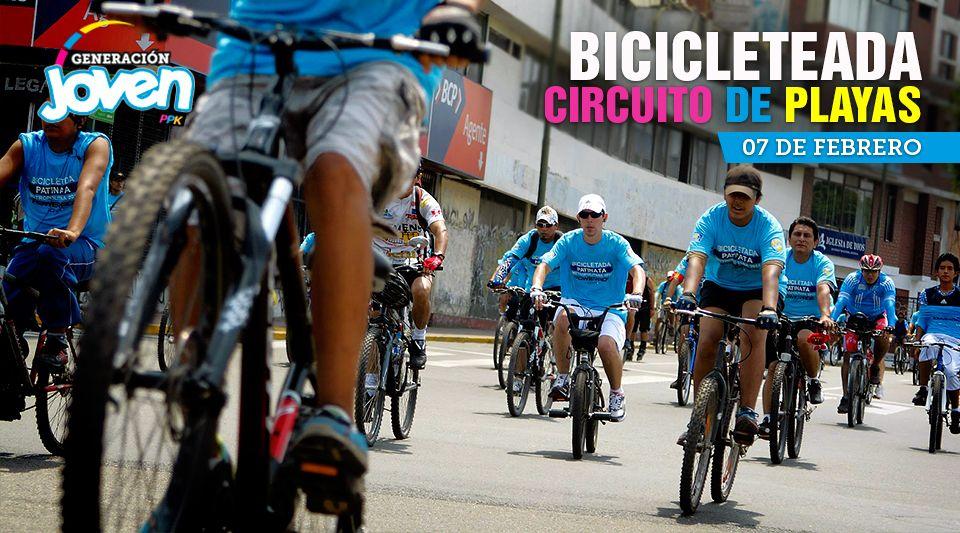 Bicicleteada - Circuito de Playas / Sábado 7 de Febrero - 10:00 am