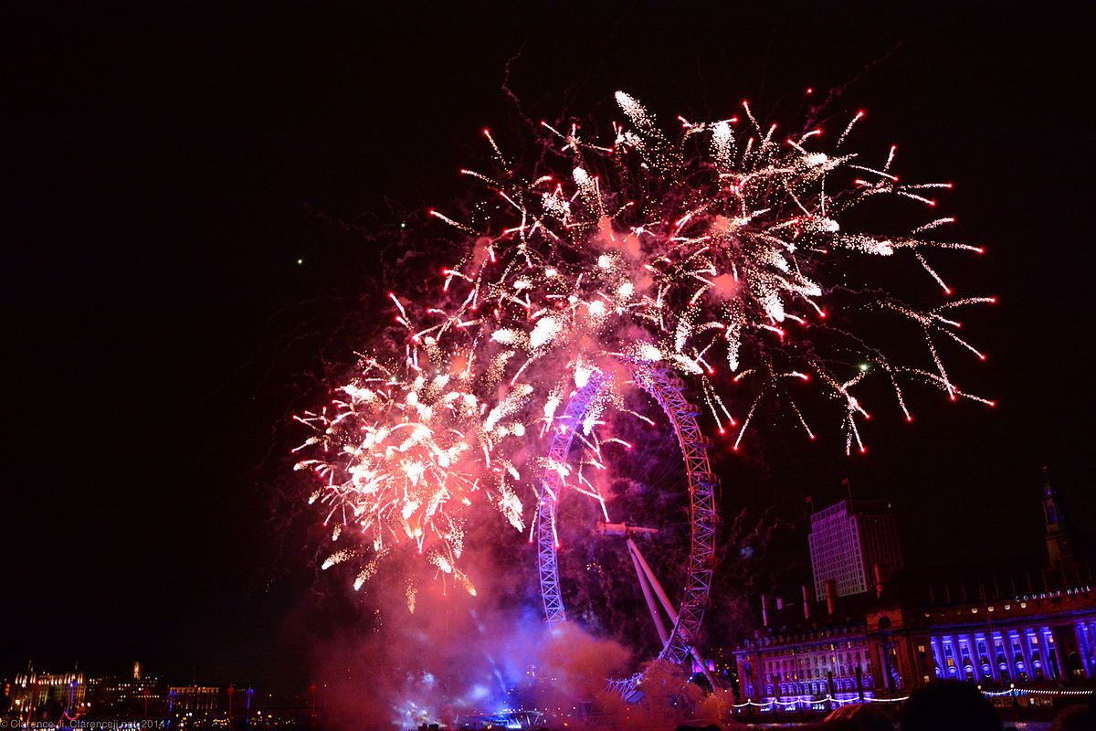 New Year's Eve London Eye Fireworks 2018 London