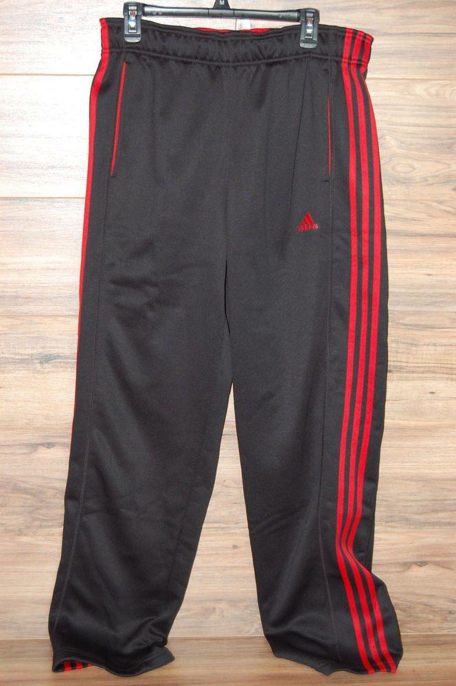 5ac39d45a092 Adidas 3 Stripe Tech Fleece Pants Black Red Climawarm Fleece Large Tall LT  NEW  ADIDAS  Pants