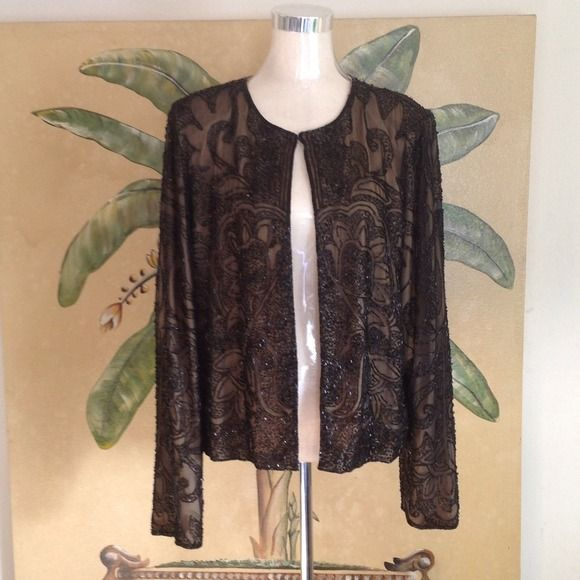 Sean Collection Top Sean Collection Top. With black beads. Gently used. Sean Collection Jackets & Coats